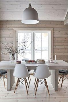 sala de estar elegante decoración de velas casas nordicas mesa de madera grande