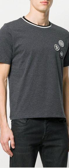 Saint Laurent Patchwork-Detail T-Shirt