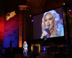 Carrie Underwood performs for the American Australian Association's Benefit Dinner.