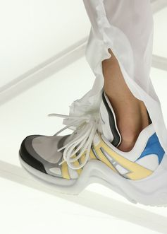 Sneakers from the Louis Vuitton Spring-Summer 2018 Show by Nicolas Ghesquiere. Watch the show now at louisvuitton.com.