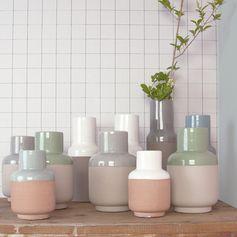 Vase en céramique bicolore fait main sur decoclico