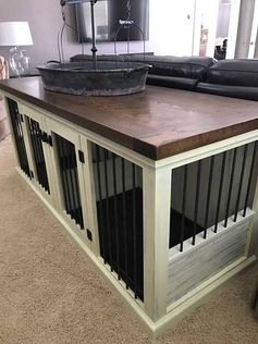 Dog Kennel, Handmade, solid wood, Shabby Rustic Finish