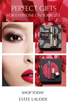 Perfect gifts for everyone on your list! These limited edition sets for eyes and lips are the ultimate stocking filler for the holiday season.    Featured here:  Party Chic: The Shimmer Eyes Makeup Set and  Party Chic: The Pink Lip Makeup Set.   Wear together to create a bold, powerful look for the party season.