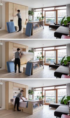 Multi-Functional Furniture Makes This Small Apartment A Livable Space