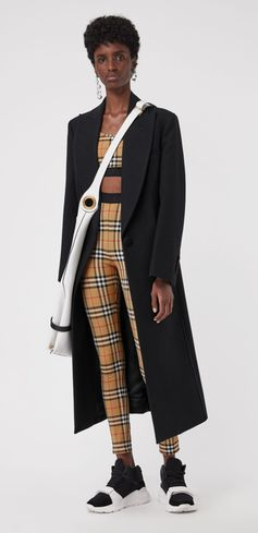 Vintage check #Burberry leggings in soft stretch jersey, tagged with subtle #Burberry lettering