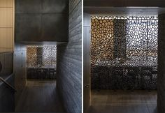 This Room Divider Is An Artistic Screen Between The Dining Room And Entrance To The Home