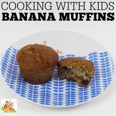 Cooking with kids, simple banana muffins