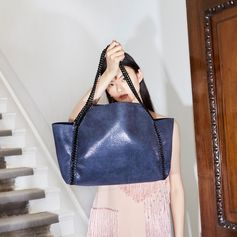 The #Falabella tote is the perfect everyday signature in any colour, but this deep blue hue is extra special. All of our bags are crafted from cruelty-free non-leather. . #StellaMcCartney #StellasWorld