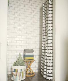 Rideau de douche en coton et acrylique Half Moon Ferm Living