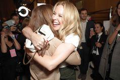 Kylie Minogue attends the Summer 2018 Stella McCartney show in Paris.