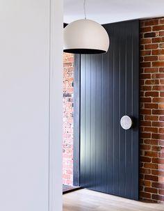 Front door with brick feature