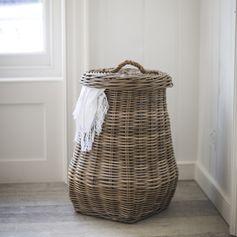 Panier à linge en osier avec couvercle Bembridge : Decoclico