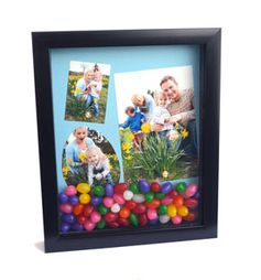 Easter Shadow Box - A shadow box is the perfect way to commemorate Easter memories. You can even use photos on your phone by printing them using the My Kodak Moments app. Download it for iOS or Android --> http://kodak.ly/1bJai1N #Easter #photo #photography #DIY #display #craft #project #inspiration #idea #decor #decoration #decorating