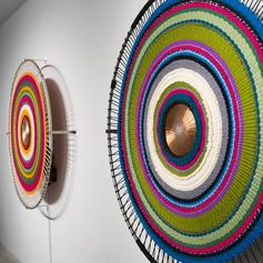 Sound Circles Taiwan Sonic Textile Installation by Hyojin Yoo and Nupur Mathur #ArtInstallation #Wall Art