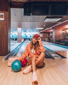 @whitneys_wonderland bowling this weekend in a Guess Originals Logo Sweatshirt #LoveGUESS #guessoriginals