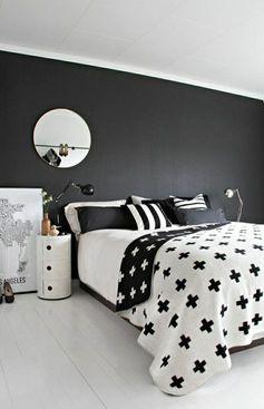 plan de travail gris anthracite pour la chambre a coucher