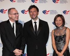 Robert Thomson, Ian Thorpe, Ping Thomson, The American Australian Association Benefit Dinner.