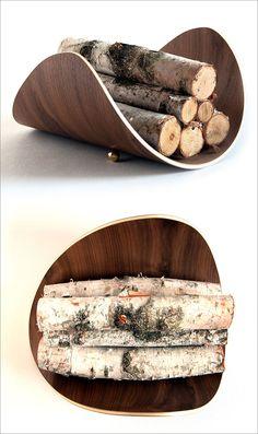 Firewood Storage Ideas – A Modern Bentwood Firewood Holder By Ciseal