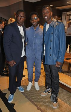 David Harewood MBE, Tinie Tempah and Jamal Edwards attend our Burberry Breakfast at Thomas's Café to celebrate London Fashion Week Men's