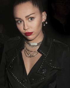 #MileyCyrus at the #VivienneWestwoodandBurberry party in London  #RiccardoTisci #VivienneWestwood #AndreasKronthaler