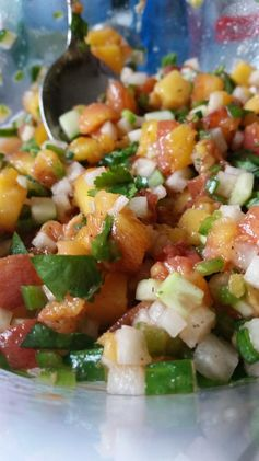 Fresh Peach Salsa | The Peach Truck