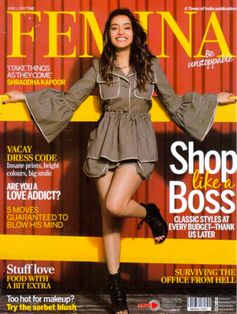A Fendi outfit to love on the cover of FEMINA Spring 17, India.