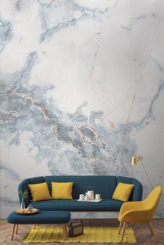 Notre Papier Peint Fresque Marbre Bleu Profond vous transportera dans un lieu de tranquillité et de bonheur de par sa composition semblable à un nuage et laissera vos invités émerveillés. Ce papier peint à effet de marbre vous offre une vision de nuages d'un bleu profond à l'intérieur de votre maison.