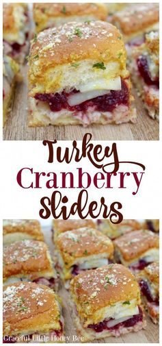 Use up your favorite Thanksgiving leftovers with this delicous Turkey Cranberry Sliders recipe on gracefullittlehoneybee.com #thanksgiving #thanksgivingrecipes #thanksgivingleftovers #recipes #recipe #food #sliders