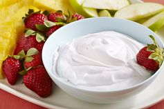 Flavorful Fruit Dip – Use MiO Water Enhancers to make an easy fruit dip by stirring it into COOL WHIP Whipped Topping. #PinThatTwist
