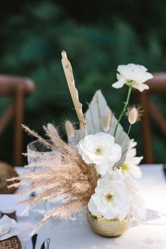 Wild Romance Woodland Wedding Ideas with a Round Ceremony & Curved Reception