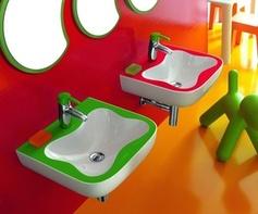 Colourful Children's Bathroom by Laufen