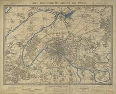 Map of Paris fortifications in 1815 [4000x3258] [OS]