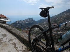 Mountain biking in Ravello.