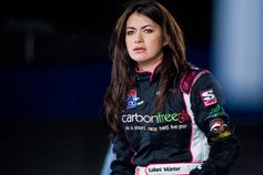 Leilani Munter, racing driver, meet Formula E electric racing