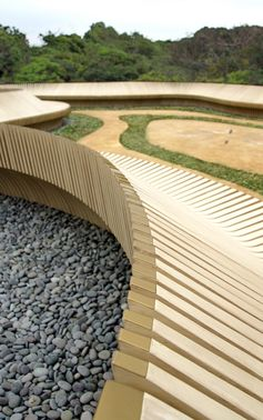 The Serpentine Stargazing Landscape by Architectural Services Department #Landscaping #GardenDesign #PublicSeating #OutdoorFurniture
