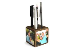 Bring a smile to Dad's face every time he reaches for a pen with this wood pen cube with photos. You can print your photos on the KODAK Picture Kiosk or with the My KODAK MOMENTS app. #fathersday