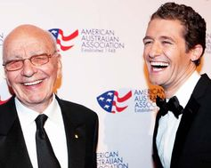 Rupert Murdoch & Matthew Morrison. The American Australian Association Benefit Dinner.