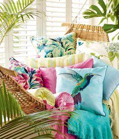 Тропическая коллекция Palm House от Laura Ashley | Пуфик - блог о дизайне интерьера