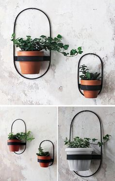 These modern wall planters, which come in a variety of sizes and shapes, have simple yet minimalist designs, that hold a single pot and can display plants like cacti, vines, and succulents. #ModernWallPlanter #WallPlanter #HomeDecor #WallDecor