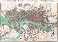 Old Map of London in 1806