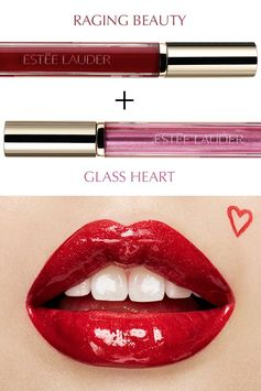 Layer on bold, playful color with Pure Color Love in Raging Beauty and Glass Heart.
