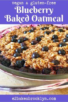 Blueberry Baked Oatmeal {Vegan & Gluten-Free}