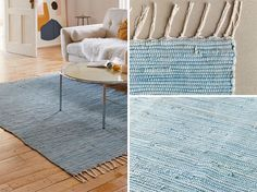 Depending on your color scheme, plain blue rugs can help tie a room together, from light blue that complements artwork, to dark blue that matches a throw pillow. #BlueRugs #PlainRug #ModernRug #BlueRug #ModernDecor