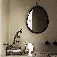 Miroir ovoïde en laiton oxydé Tine K Home