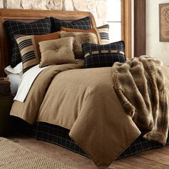 Delectably Yours Ashbury Lodge Bedding Comforter Set by HiEnd Accents #DelectablyYours Rustic Cabin Lodge Bed and Bath Decor