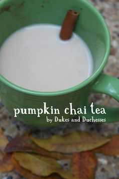 Two delicious fall flavors combine for this pumpkin chai tea recipe.
