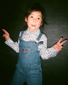 Peace out! Giving us positive vibes in our ladybird motif denim dungarees. . #StellaMcCartneyKids #StellaKids #StellaMcCartney