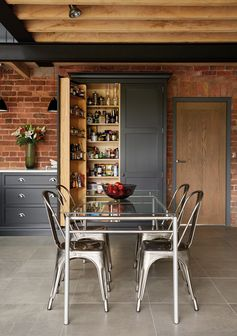 Industrial Style Shaker Kitchen Pantry