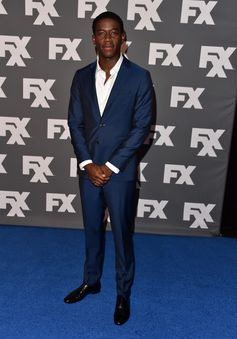 In Los Angeles, actor Damson Idris wears Burberry tailoring to the FX 2017 Summer TCA Tour