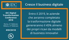 Cresce il business digitale #digitaltransformation